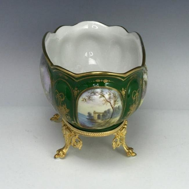 19TH C. SEVRES AND DORE BRONZE CENTERPIECE - 3