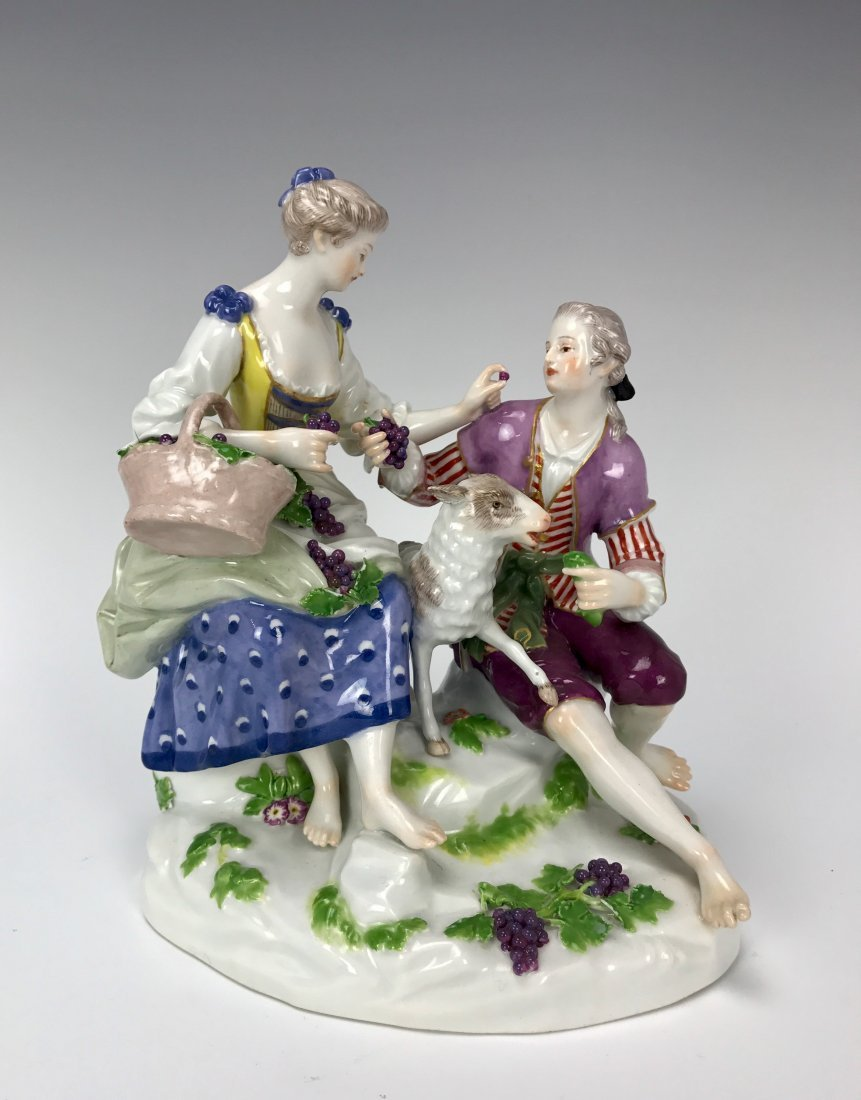 A LARGE MEISSEN GROUP CIRCA 1910