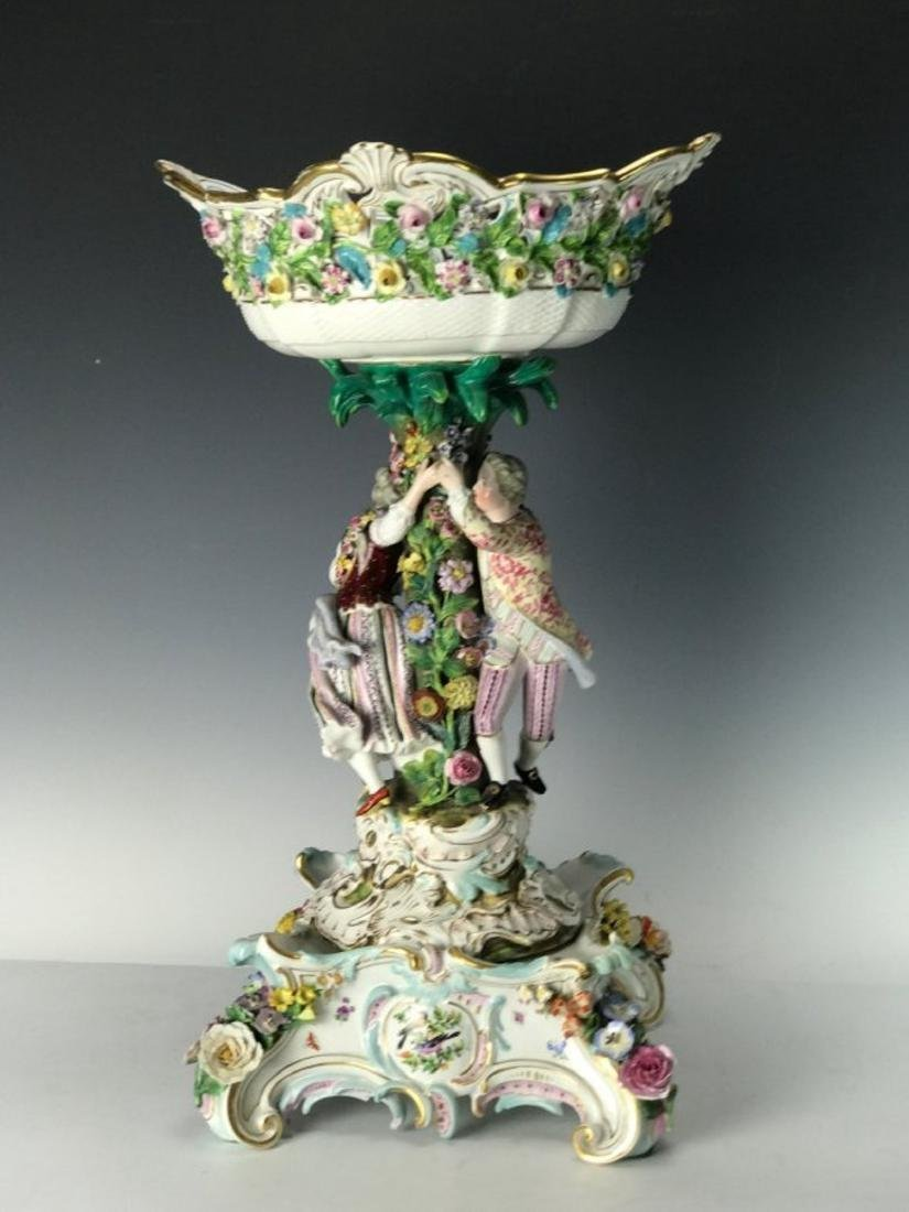 LARGE 19TH C. MEISSEN CENTERPIECE AND BASE