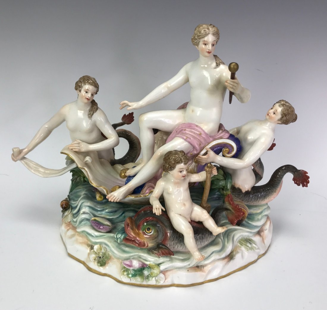 A LARGE 19TH C. MEISSEN GROUP