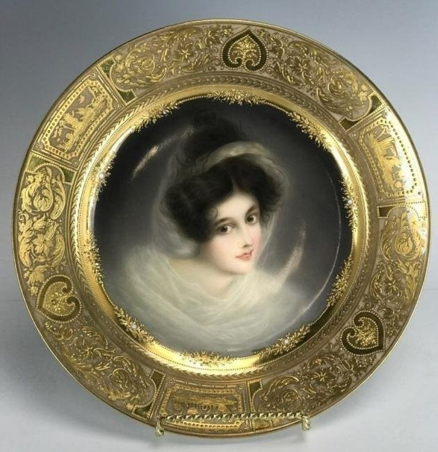 A 19TH C. ROYAL VIENNA PLATE SIGNED WAGNER