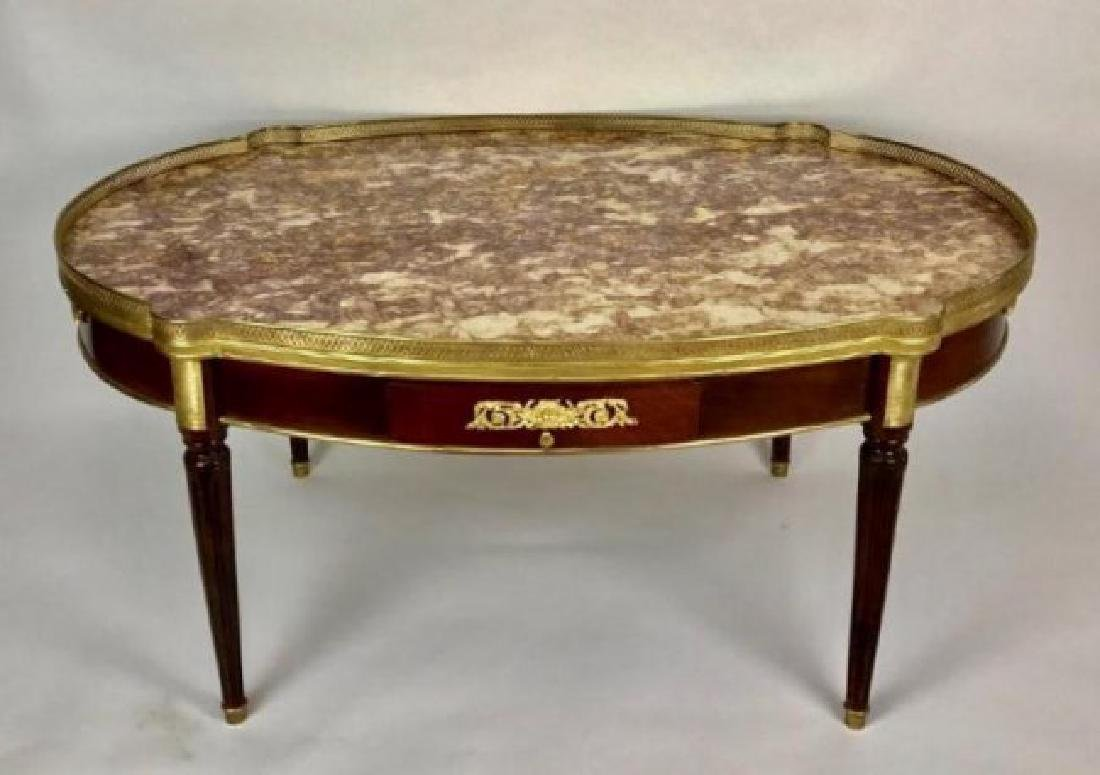 A DORE BRONZE MOUNTED MARBLE TOP LOW TABLE