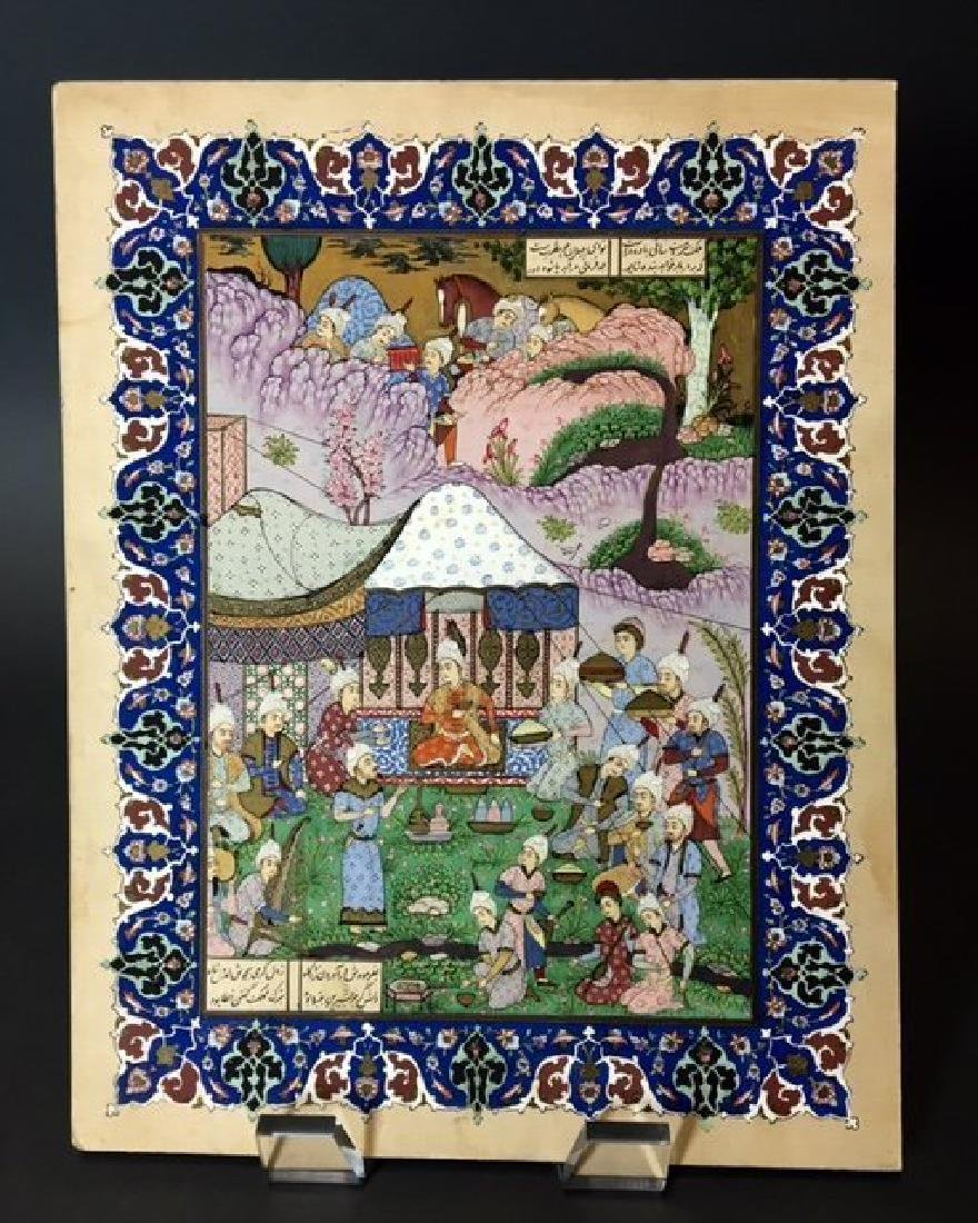 A MAGNIFICENT PERSIAN MINIATURE PAINTING