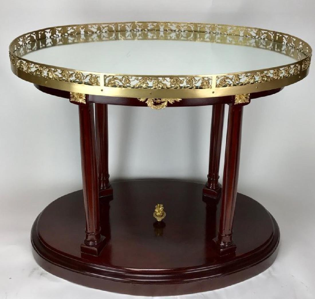 ORMOLU MOUNTED MAHOGANY OCASIONAL TABLE