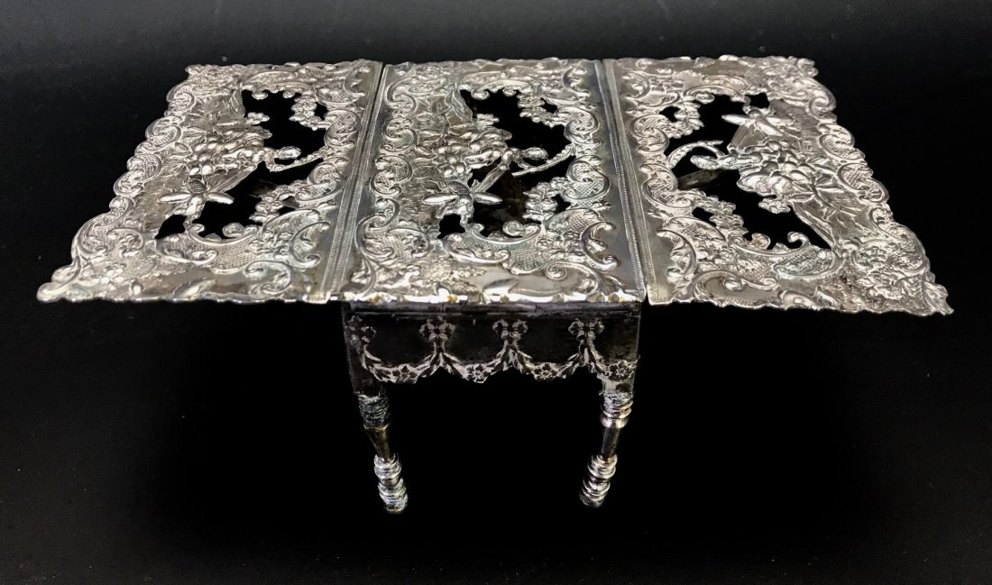 CONTINENTAL MINIATURE SILVER TABLE