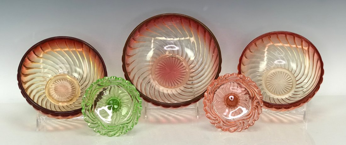 SET OF 5 BACCARAT SERVING PIECES