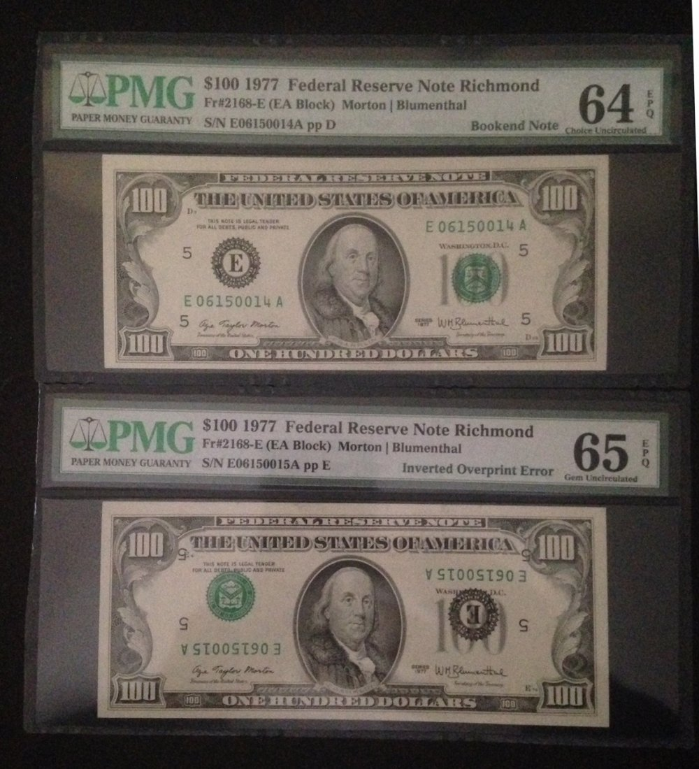 TWO 1977 FEDERAL RESERVE RICHMOND NOTES