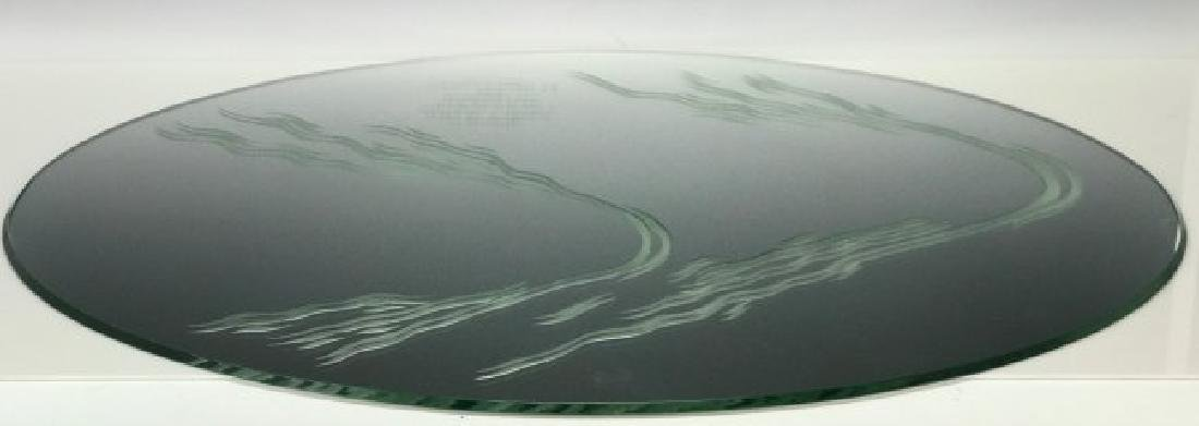 LARGE LALIQUE MIRROR FOR A LALIQUE PAIR OF SWANS