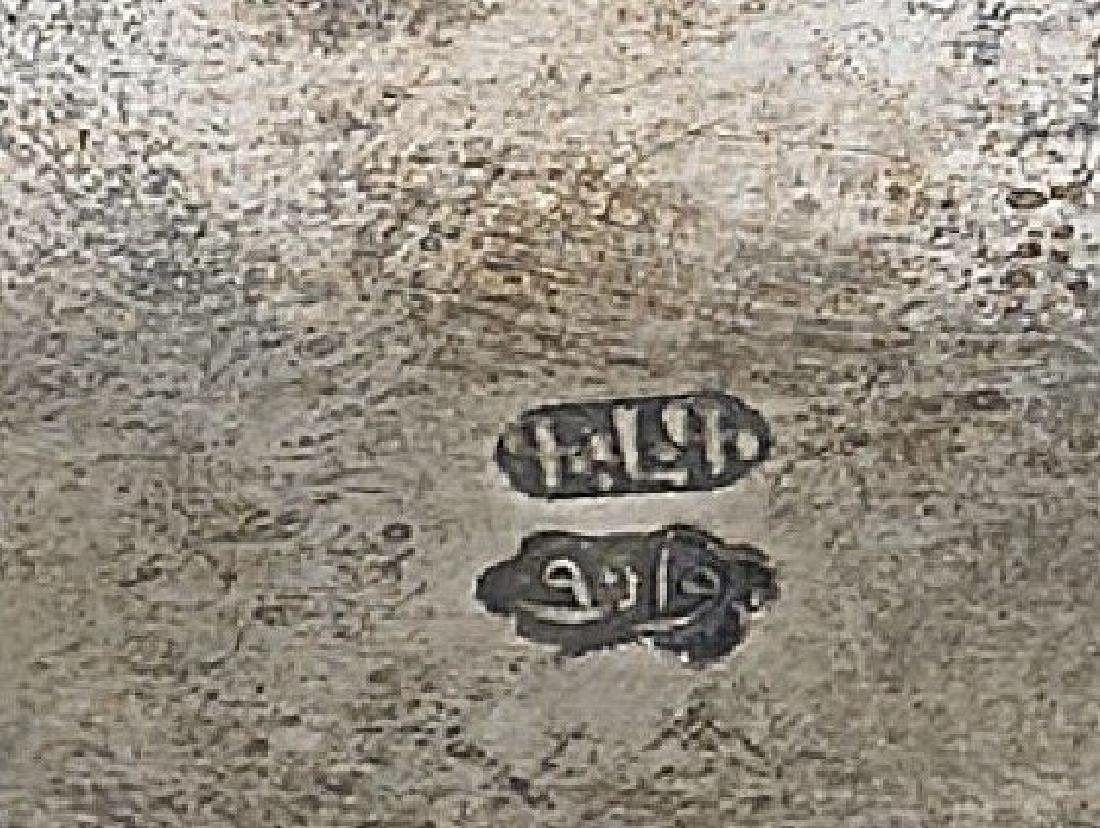 ANTIQUE EGYPTIAN SILVER DISH CIRCA 1900 - 2
