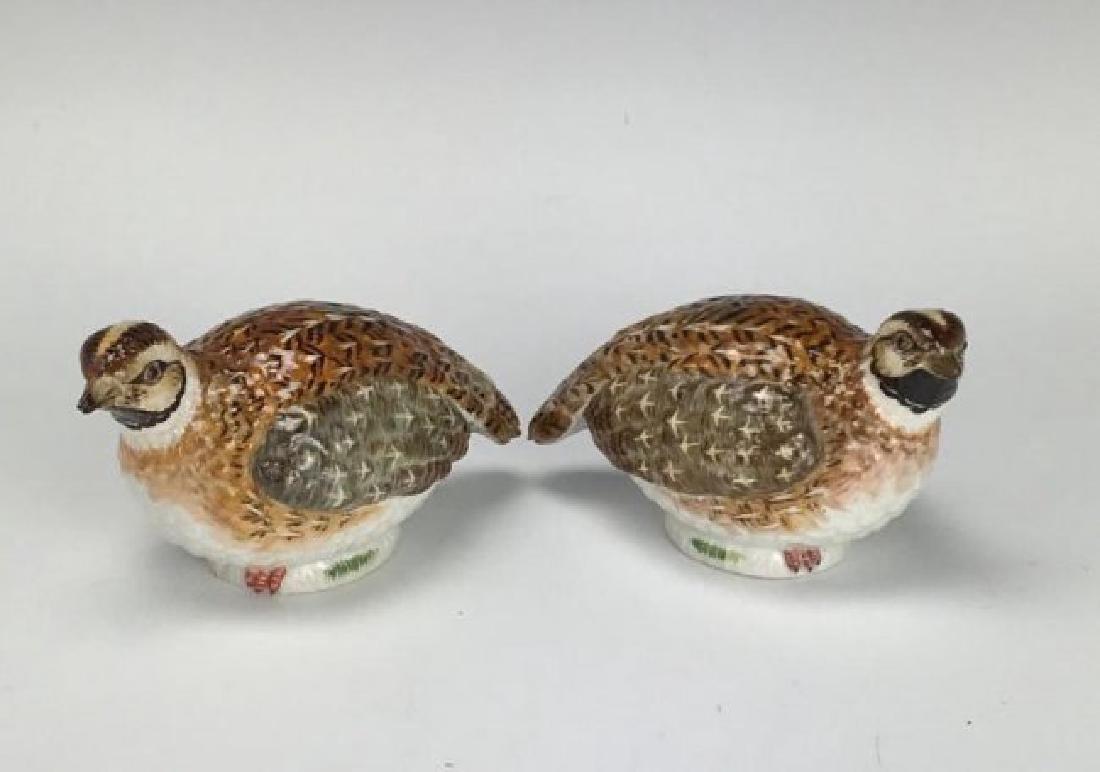 A PAIR OF MEISSEN BIRDS