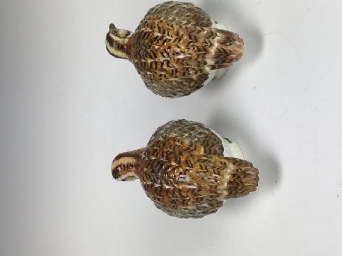 A PAIR OF MEISSEN BIRDS - 2