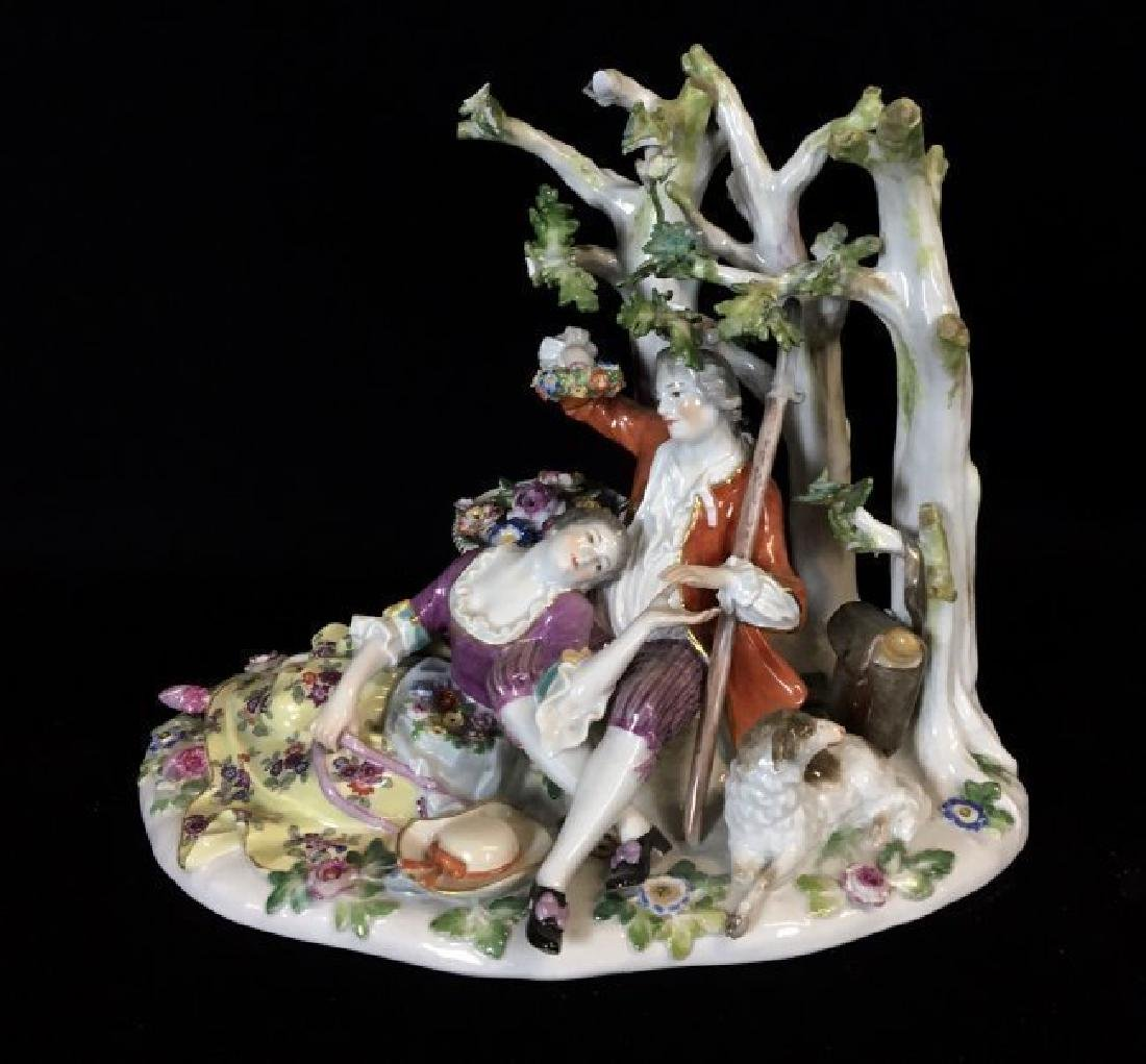 A LARGE 19TH CENTURY MEISSEN GROUP