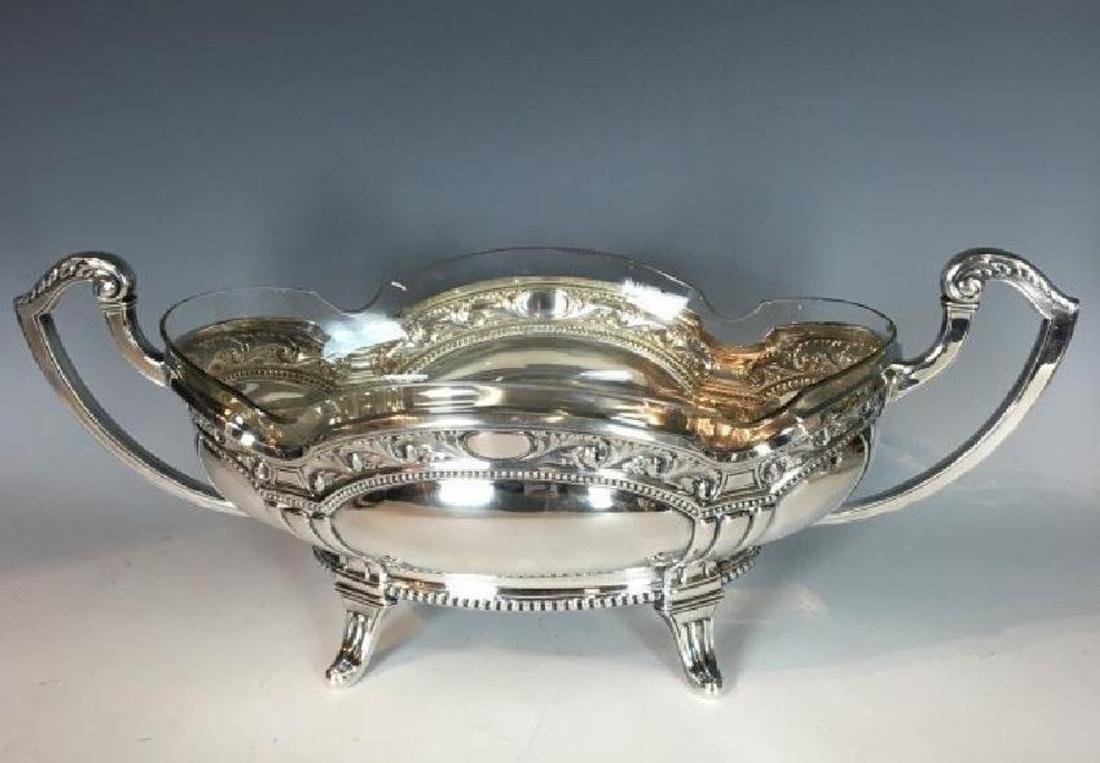 A LARGE ANTIQUE FRENCH STERLING SILVER BOWL