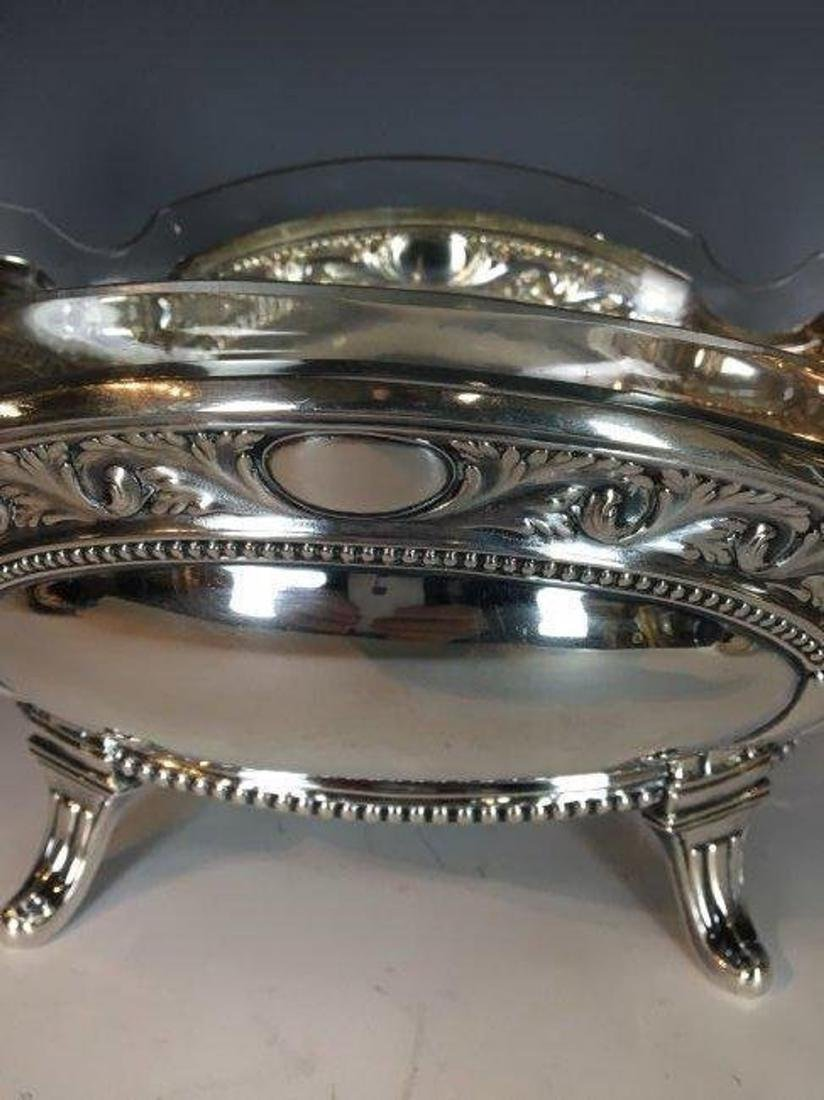 A LARGE ANTIQUE FRENCH STERLING SILVER BOWL - 2
