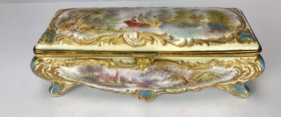 19TH C. SEVRES PORCELAIN BOX