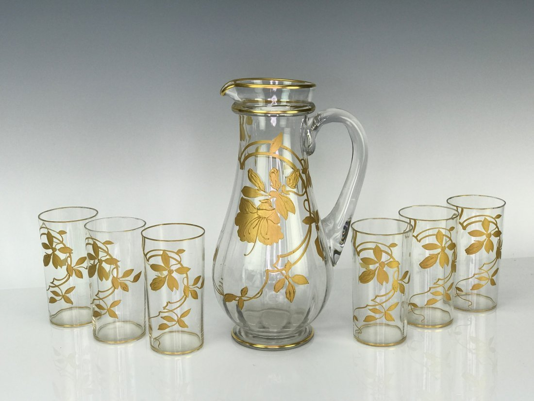 GILT MOSER DRINKING SET