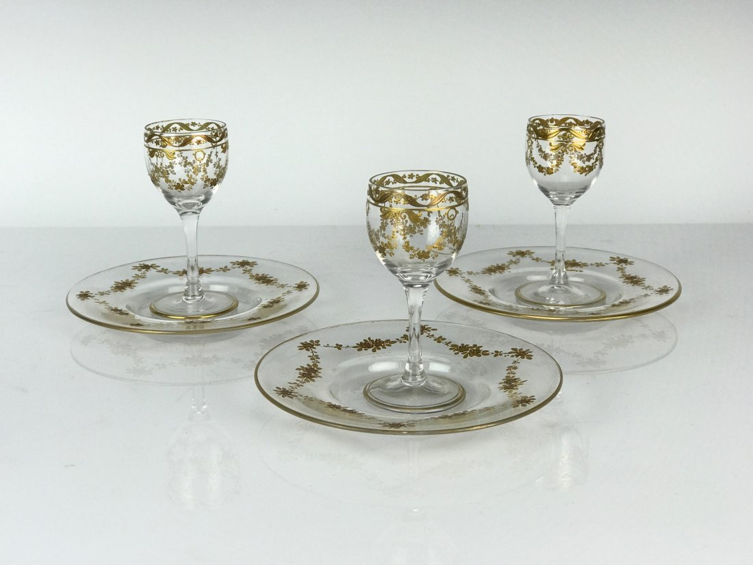 SET OF 3 MOSER GLASSES