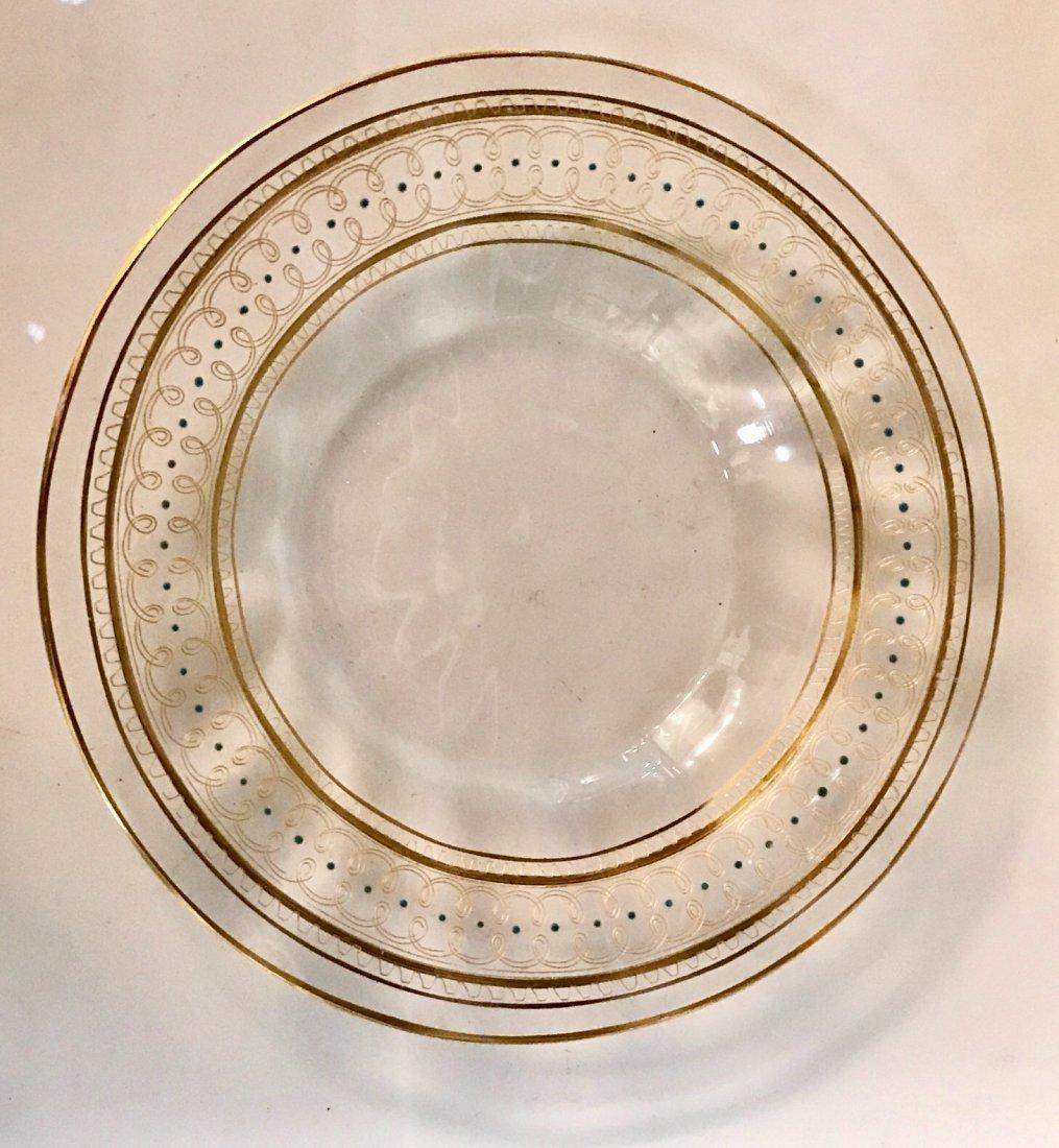 SET OF 10 ENAMELLED MOSER/ LOBMEYR DESSERT PLATES - 3