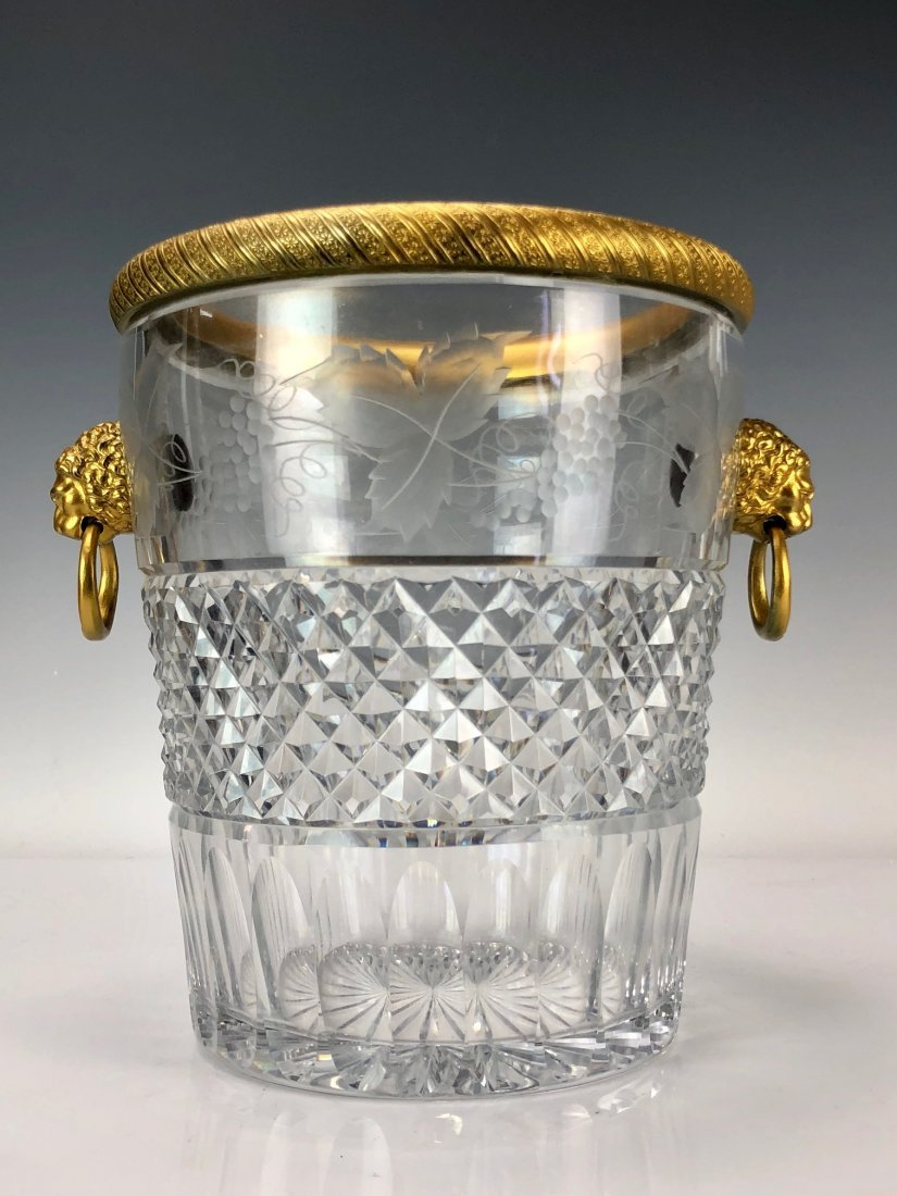 19TH C. DORE BRONZE MOUNTED BACCARAT ICE BUCKET
