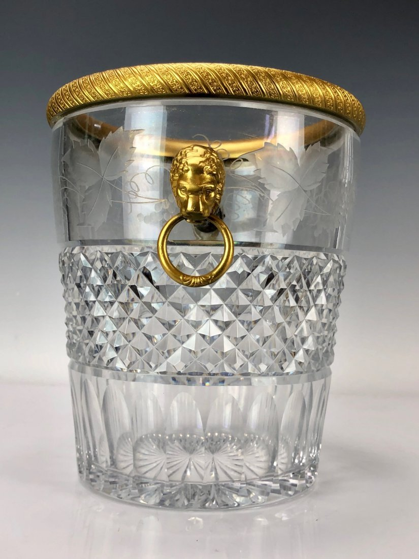 19TH C. DORE BRONZE MOUNTED BACCARAT ICE BUCKET - 2