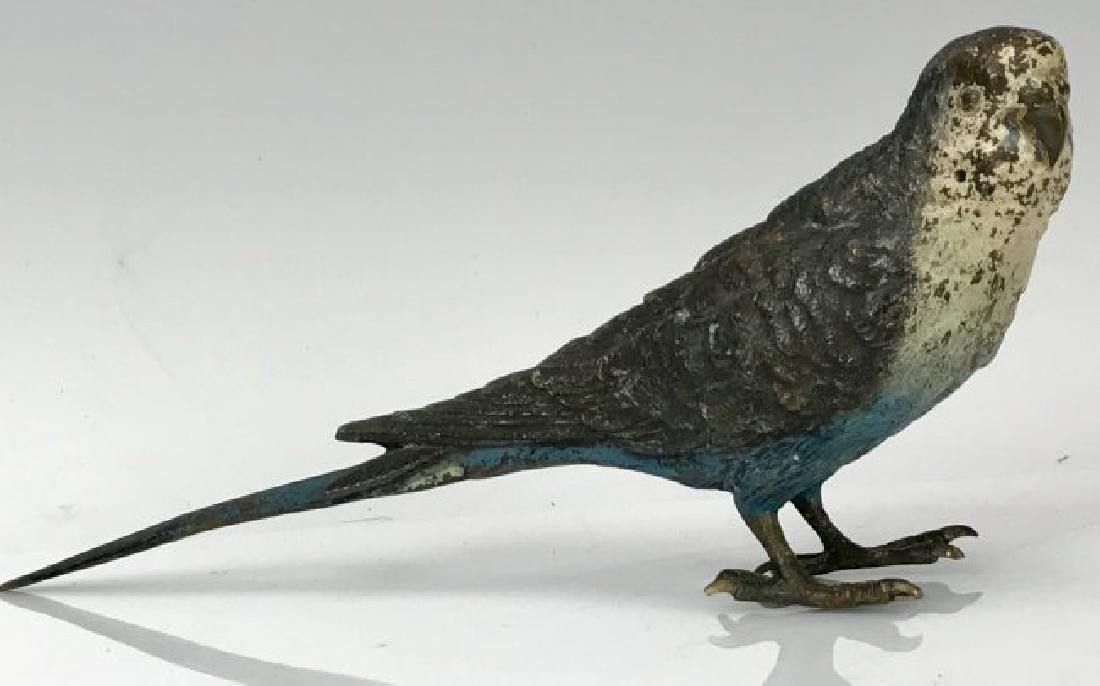 2 COLD PAINTED AUSTRIAN BRONZE BIRDS CIRCA 1900 - 3