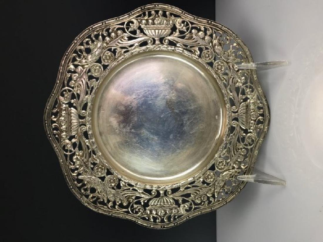 PAIR OF SILVER FINGER BOWLS AND UNDER PLATES - 3