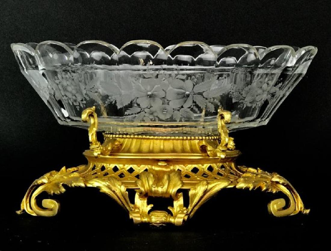 A LARGE 19TH C. ORMOLU AND BACCARAT CRYSTAL CENTERPIECE