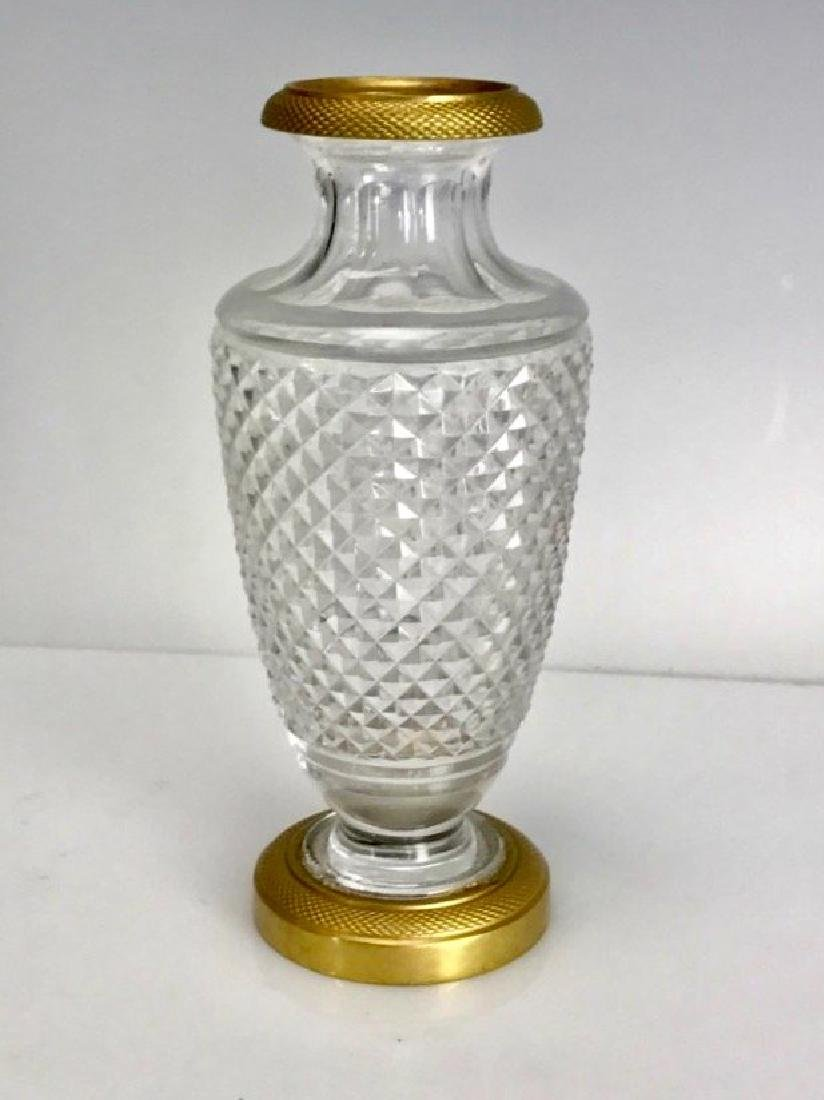 DORE BRONZE MOUNTED BACCARAT CRYSTAL VASE