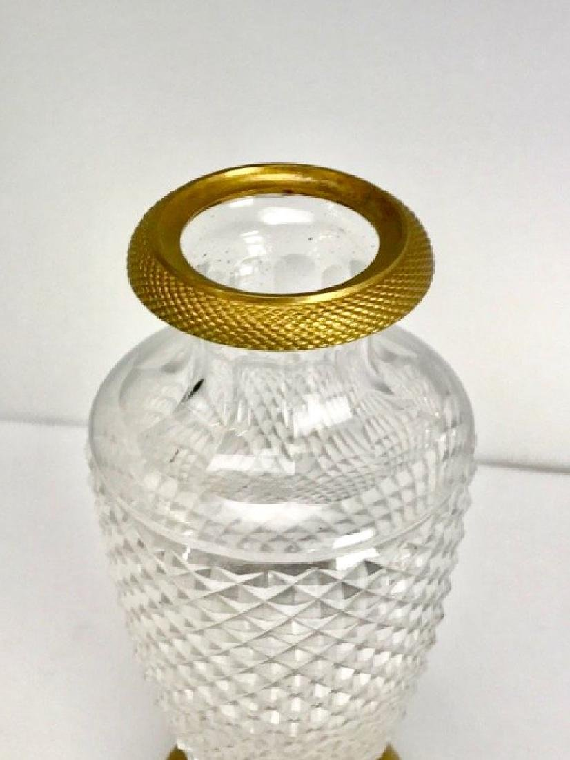 DORE BRONZE MOUNTED BACCARAT CRYSTAL VASE - 2