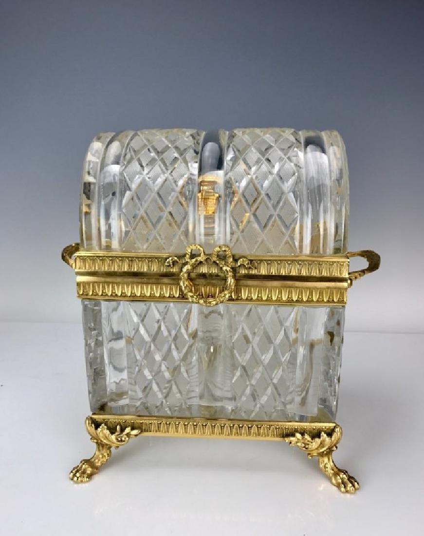 DORE BRONZE AND BACCARAT GLASS DECANTER SET