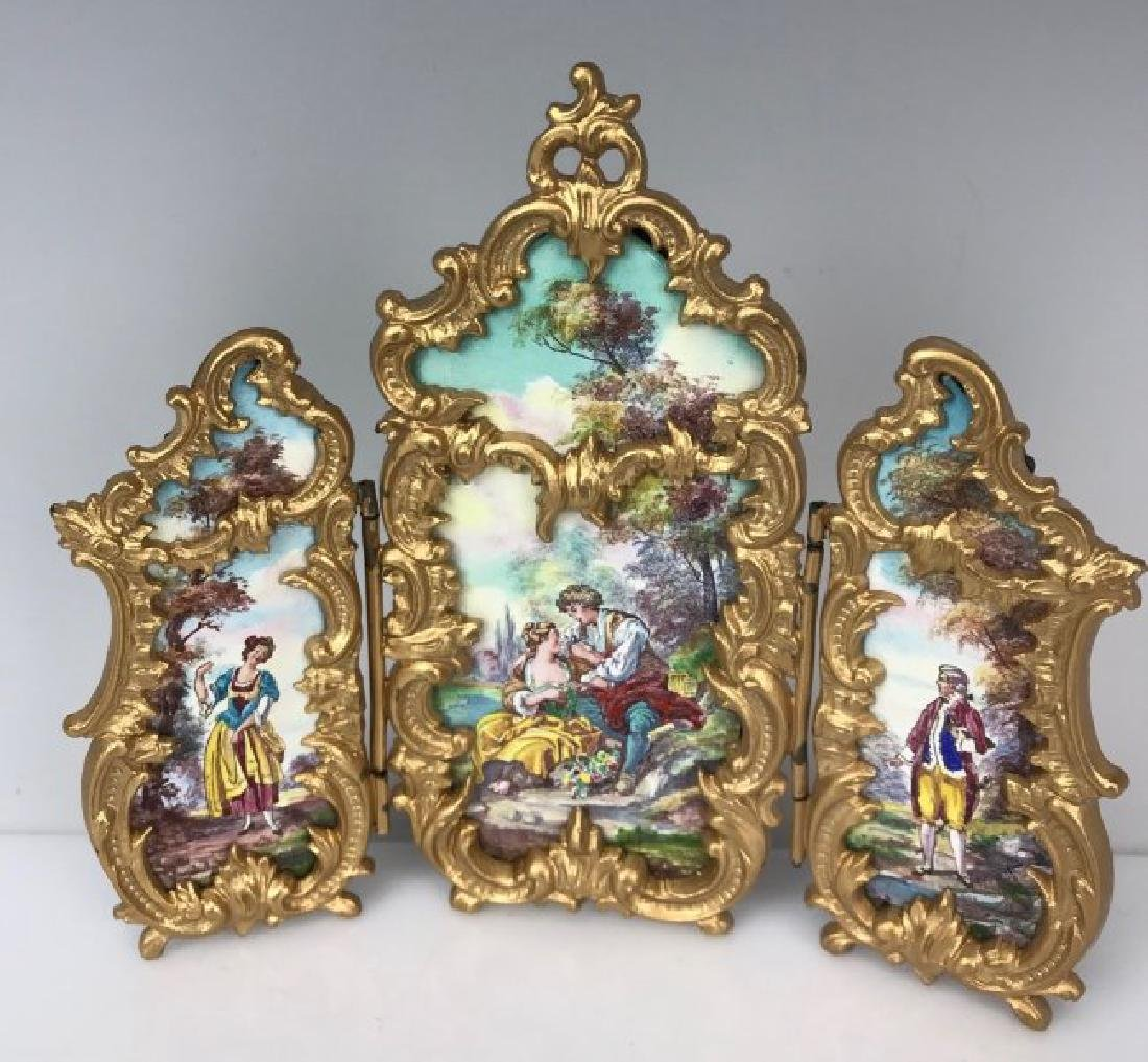 AUSTRIAN ENAMEL SCREEN CIRCA 1900