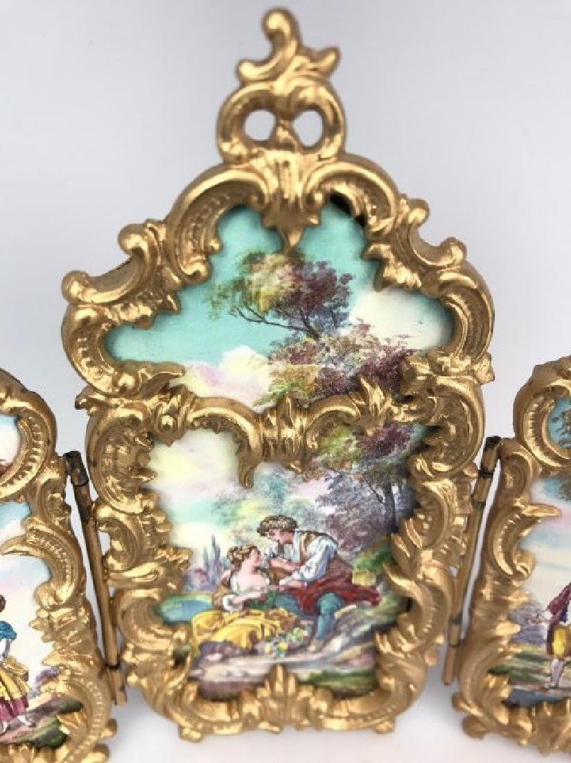 AUSTRIAN ENAMEL SCREEN CIRCA 1900 - 2