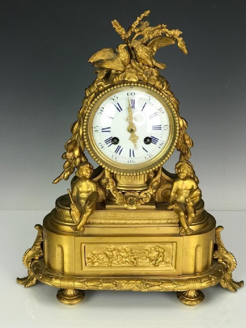19TH C. DORE BRONZE CLOCK