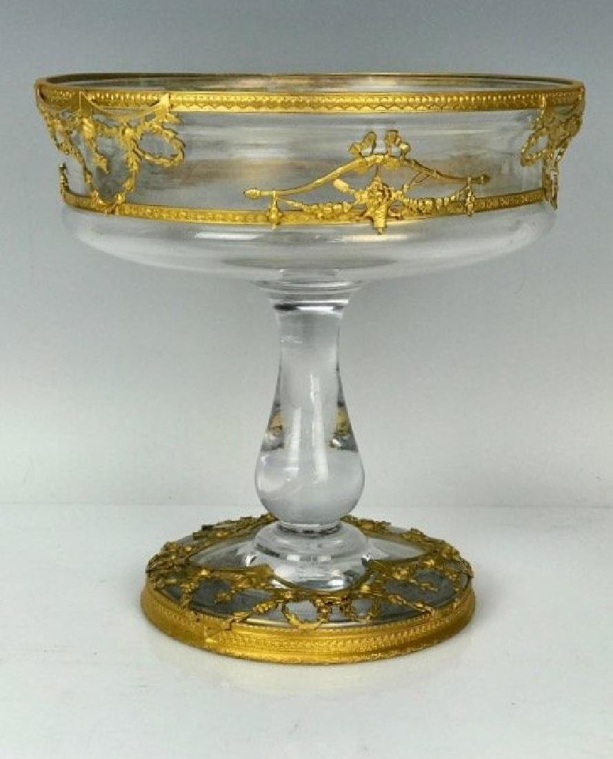 19TH CENTURY GILT BRONZE & BACCARAT CRYSTAL BOWL