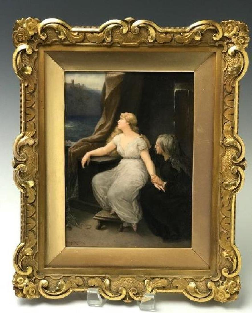 A LARGE 19TH C. BERLIN KPM PORCELAIN PLAQUE