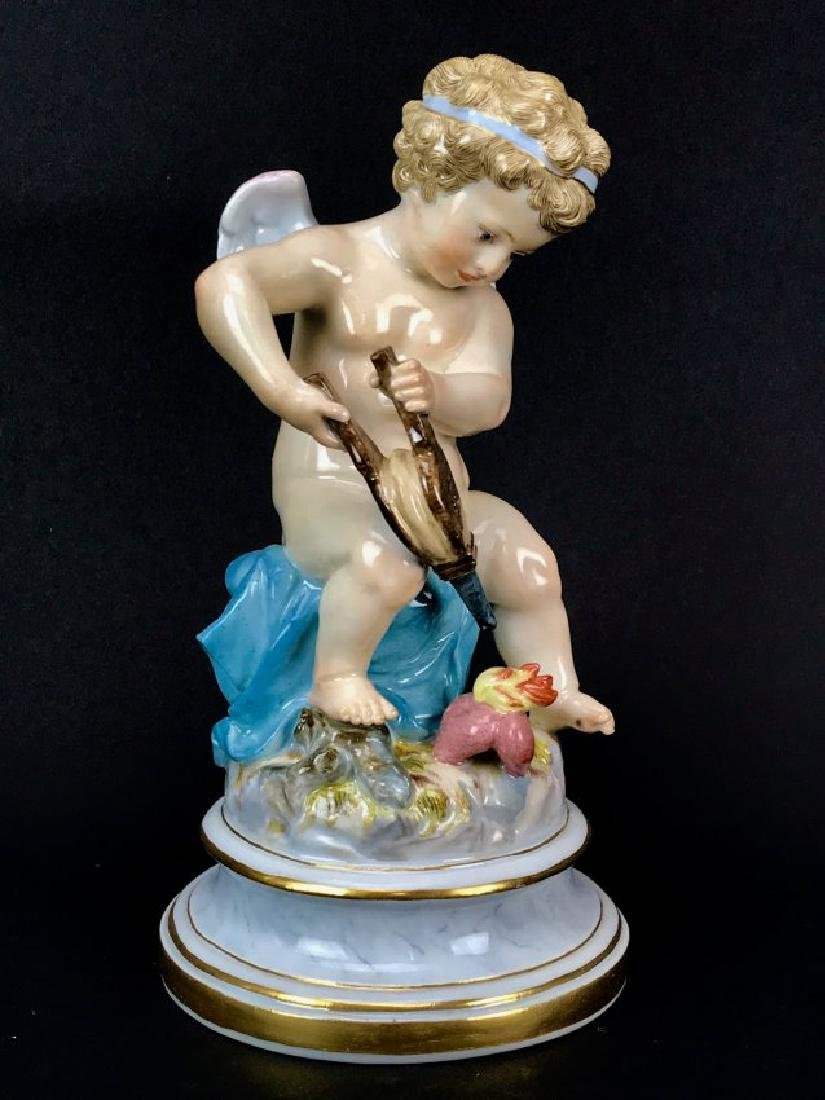 19TH C. MEISSEN CHERUB