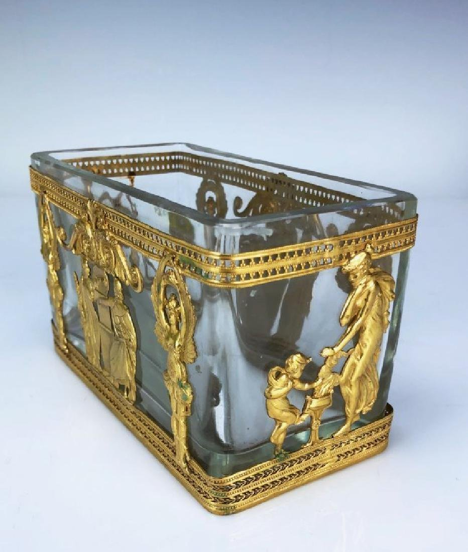 19TH C. DORE BRONZE AND BACCARAT GLASS VASE - 2