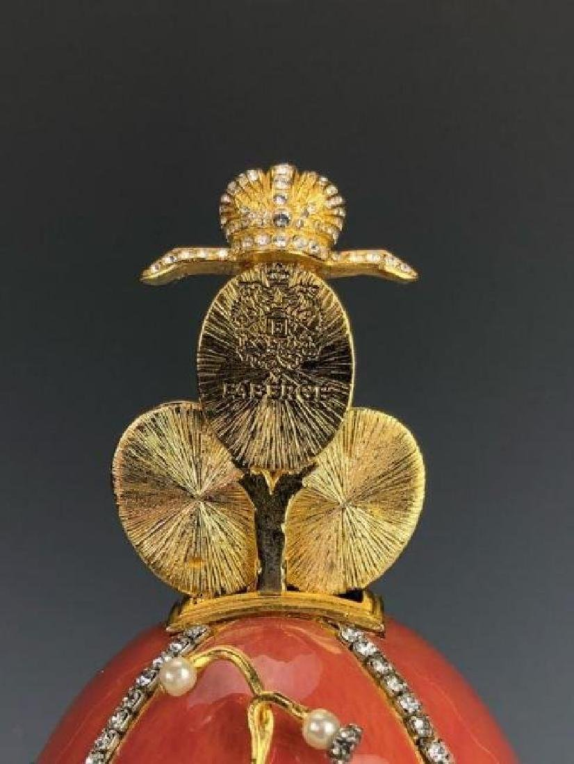 LILLIES OF THE VALLEY SIGNED FABERGE EGG - 5