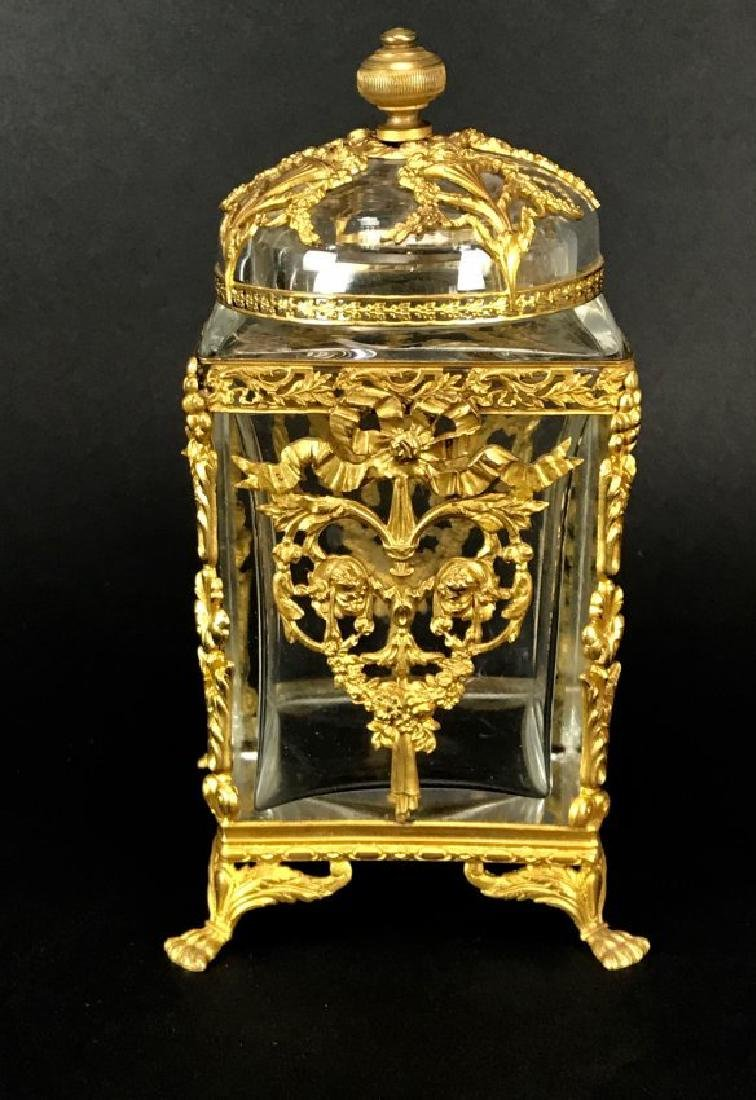 ORMOLU MOUNTED BACCARAT CRYSTAL BOX