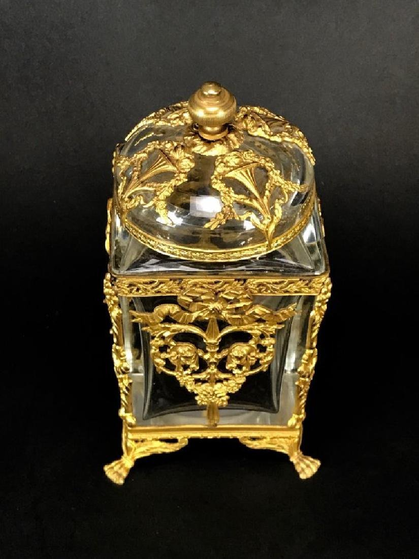 ORMOLU MOUNTED BACCARAT CRYSTAL BOX - 2