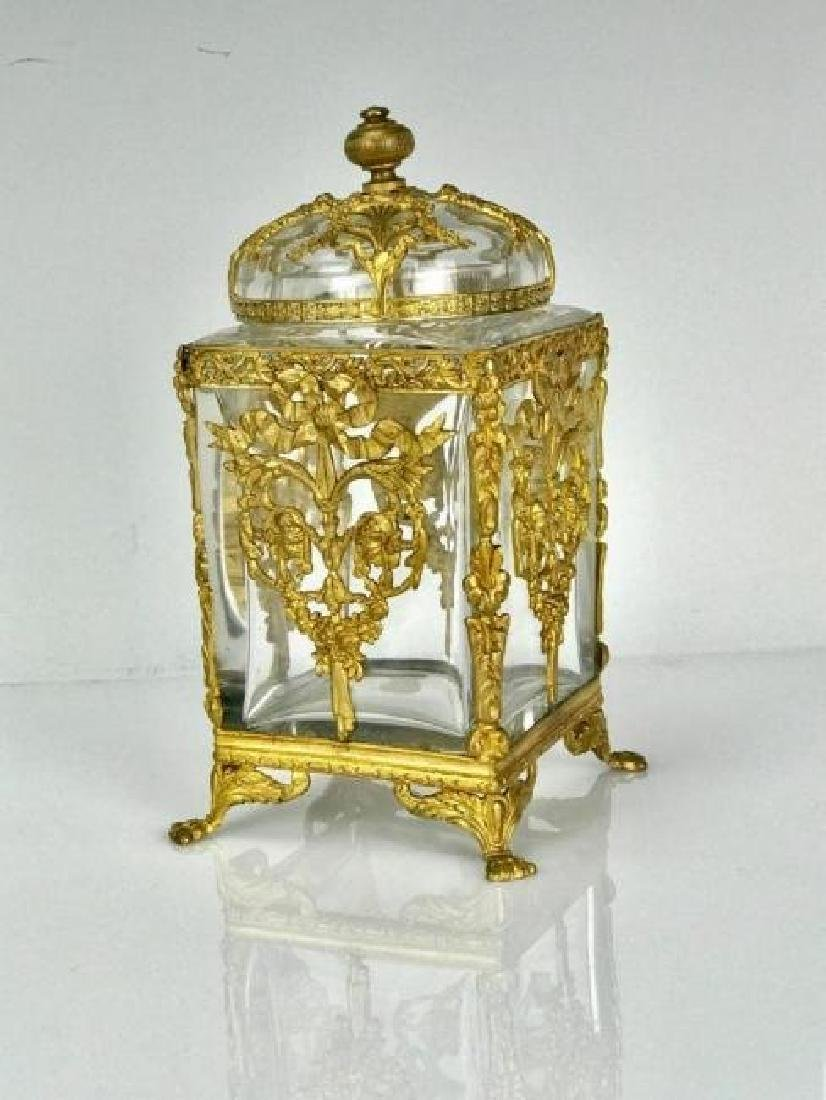 ORMOLU MOUNTED BACCARAT CRYSTAL BOX - 3