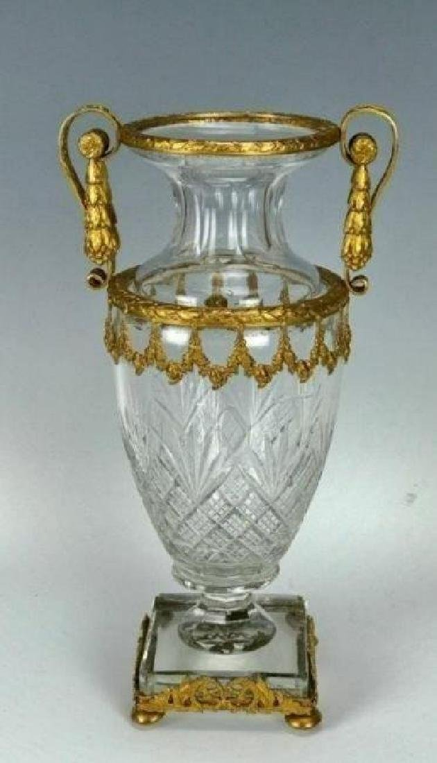 ORMOLU MOUNTED BACCARAT GLASS VASE