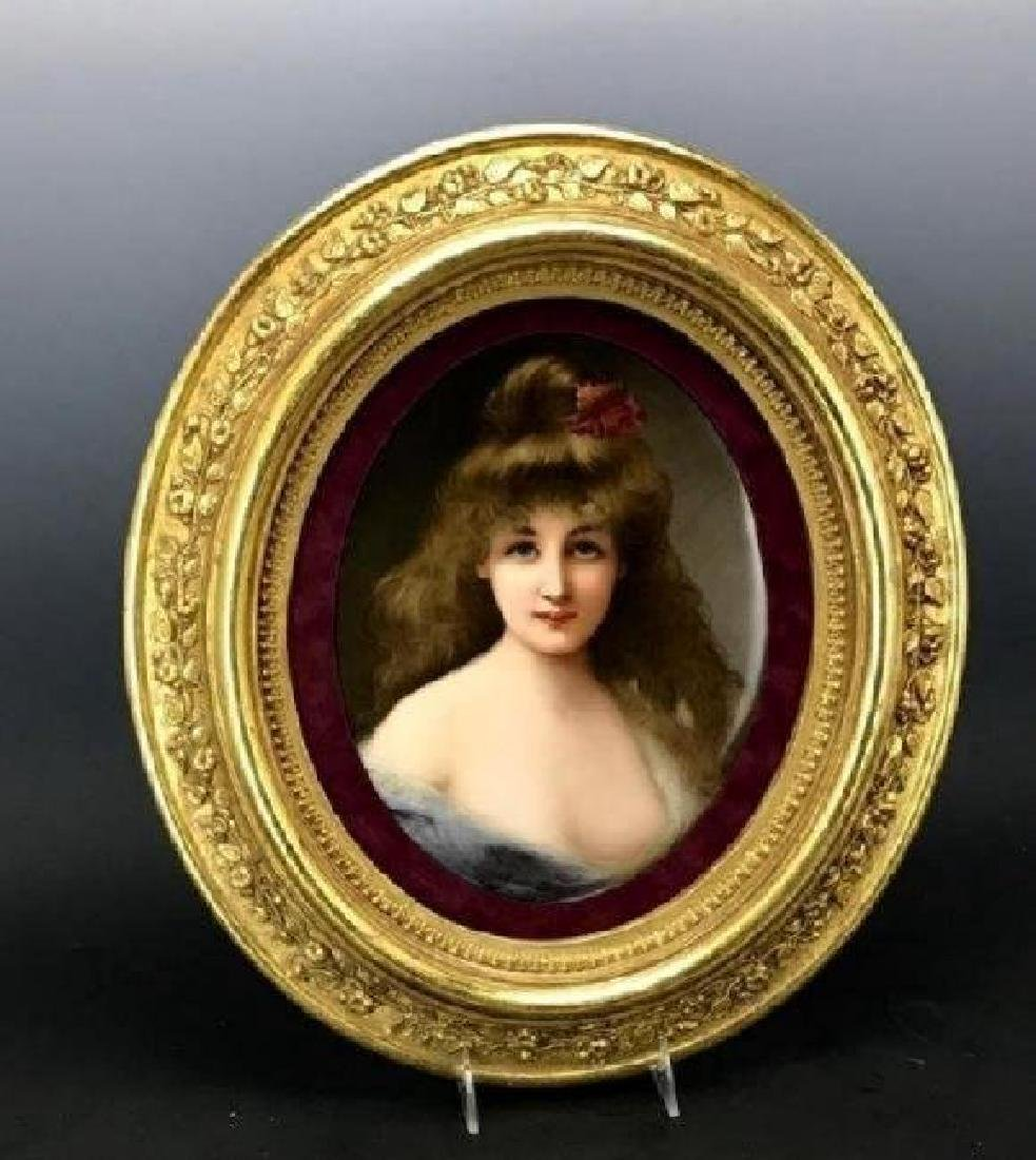 19TH C. BERLIN KPM PORCELAIN PLAQUE