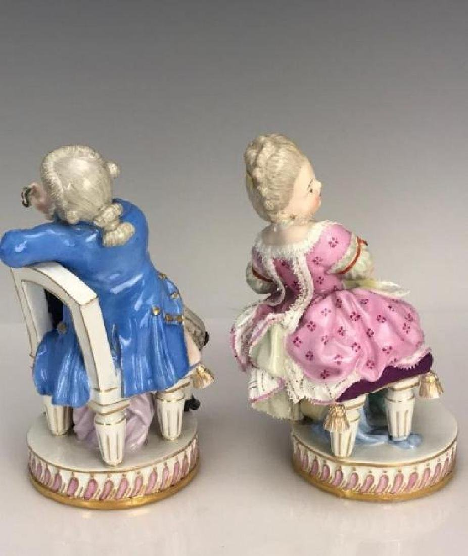 A PAIR OF 19TH C. MEISSEN FIGURES - 2