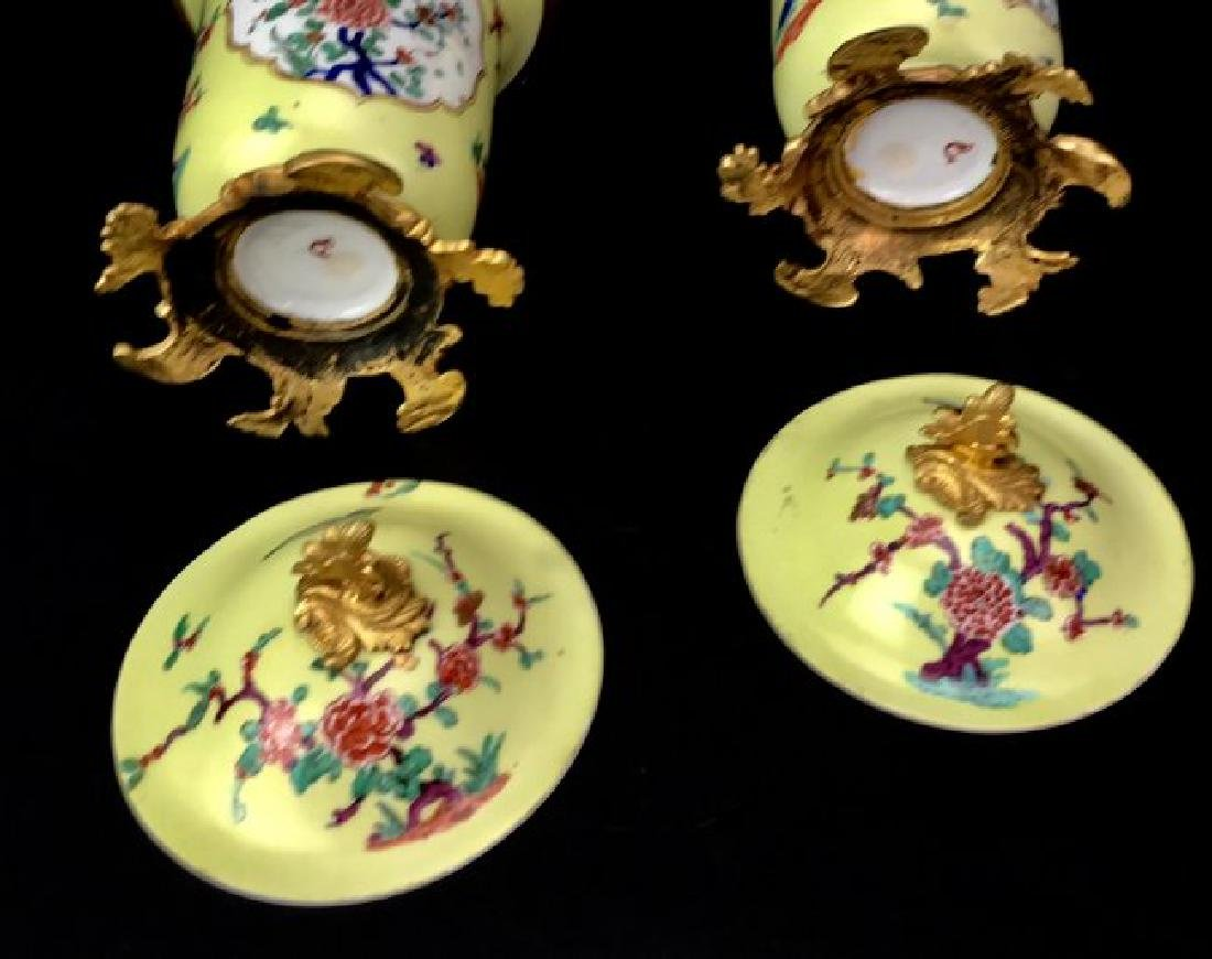 A PAIR OF CONTINENTAL ORMOLU MOUNTED POTPOURRIS - 3