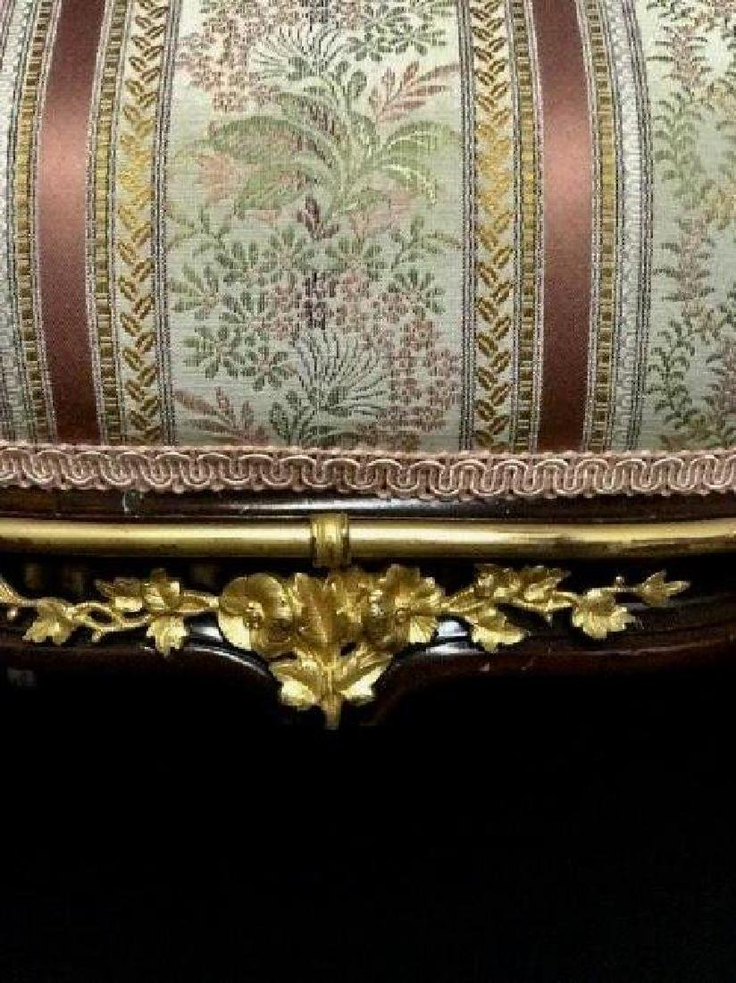 A PAIR OF LOUIS XVI STYLE ORMOLU MOUNTED ARMCHAIRS - 4