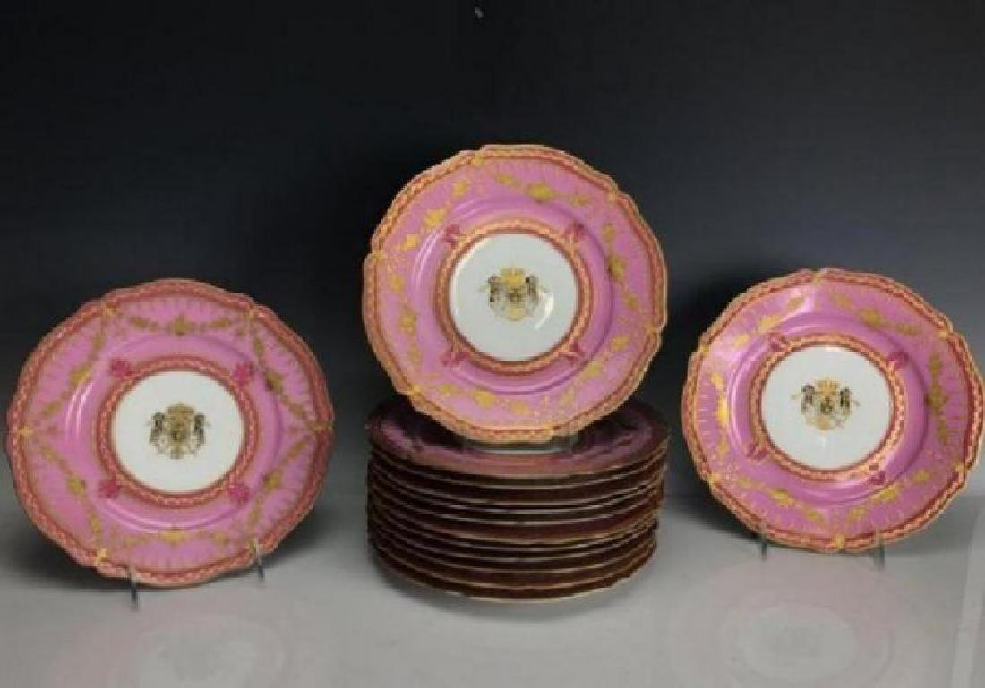 SET OF 14 ANTIQUE PARIS PORCELAIN DINNER PLATES