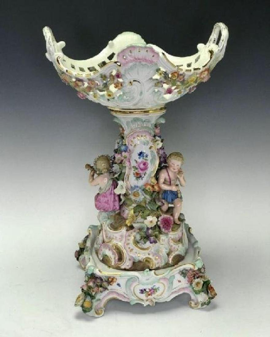 19TH C. MEISSEN CENTERPIECE AND BASE