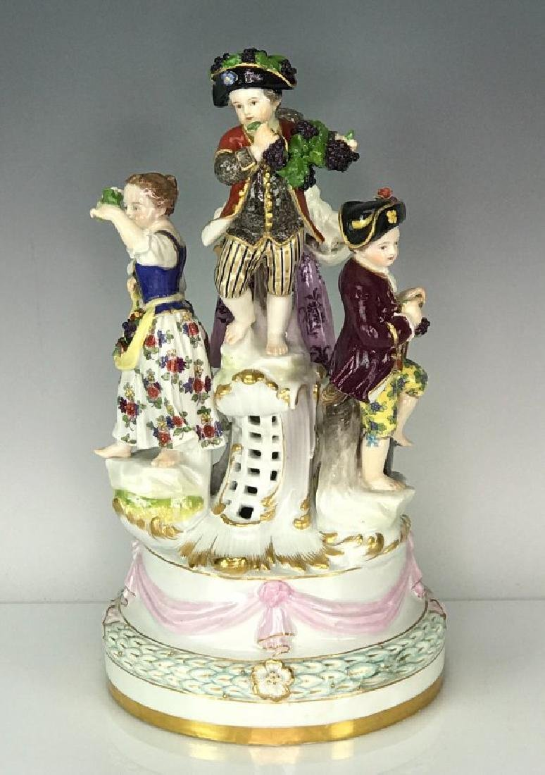 "LARGE MEISSEN GROUP DEPICTING "" FOUR SEASONS"""
