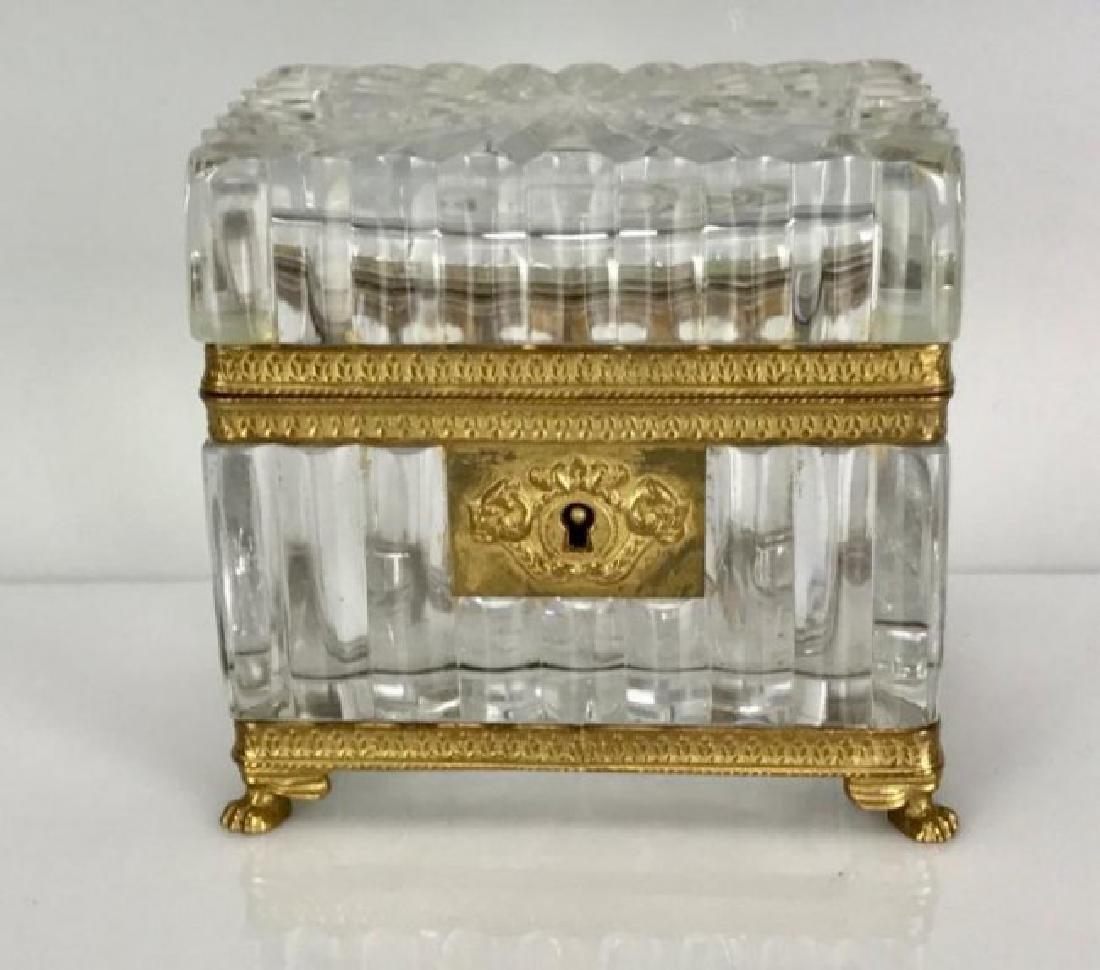 ORMOLU MOUNTED BACCARAT JEWLRY BOX CIRCA 1900